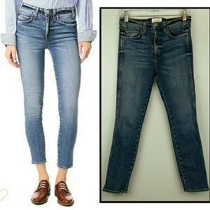 MCGUIRE Denim Windsor Slim Jeans Lucky Blue Crop